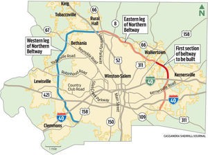 Northern Beltway Map